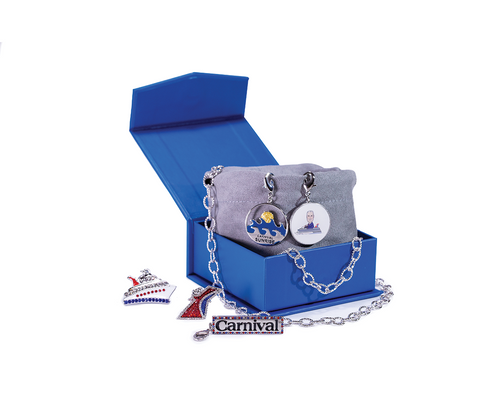 Carnival Cruise Line Statement Necklace & Bracelet Charm Set
