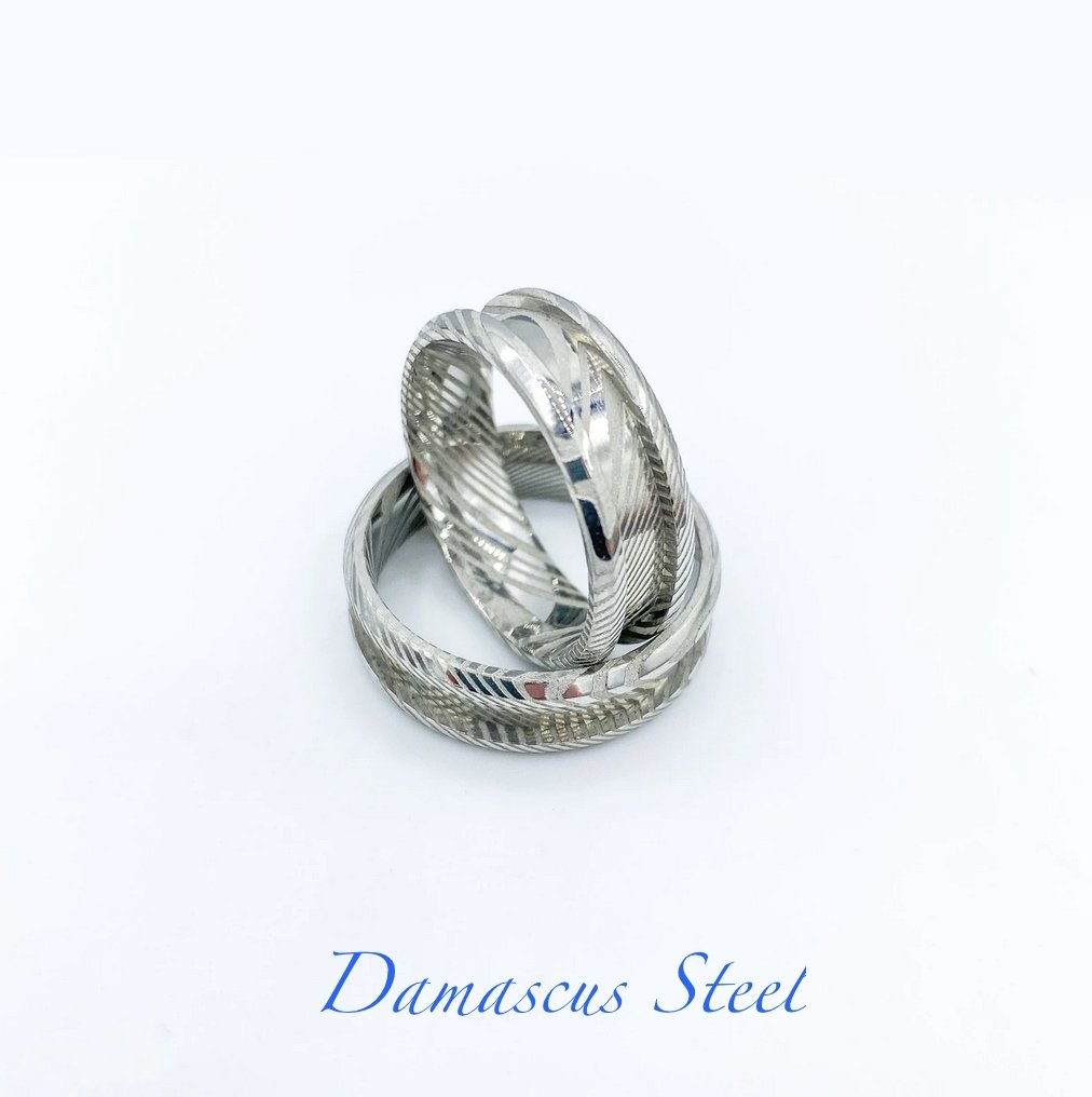 Damascus Steel Ring Blank - Today Tomorrow Always Keepsakes