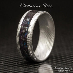Damascus Steel Ring Base - Today Tomorrow Always Keepsakes- -Breastmilk - Breastmilk Ring  - Ashes - Baby - Keepsake - Funeral - Wedding - Birth - Pregnancy Loss - Infant Loss - Engagement Gifts - Baby Shower Gifts - Grief - Broken Hearted