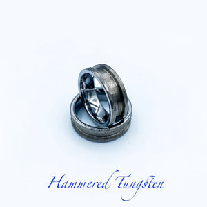 Hammered Tungsten Ring Base - Today Tomorrow Always Keepsakes