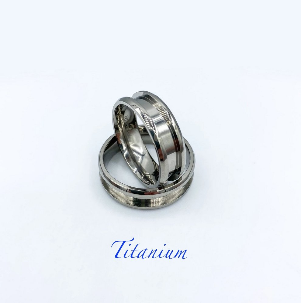 Titanium Ring blank - Today Tomorrow Always Keepsakes