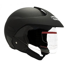 Load image into Gallery viewer, MMG Motorcycle Open Face Helmet DOT Street Legal - Flip Up Clear Visor - Matte Black