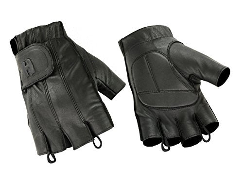 Hugger Affordable Men's Gel Padded Palm Fingerless Motorcycle Cycling Scooter Gloves