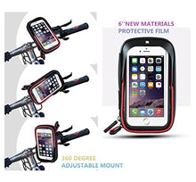 Load image into Gallery viewer, MOOZO Bike Handlebar Bag, Universal Waterproof Cell Phone Pouch Bicycle & Motorcycle Handlebar Phone Mount Holder Cradle with 360 Rotate for Motorcycle Bicycle or Electric Scooter