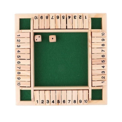 Shut The Box Dice Board Game 4 Sided | CampusNote.com