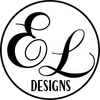 E&L Designs Logo Custom Foil Stickers