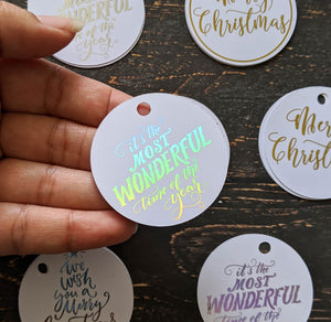 Round Christmas Tags Pack of 12