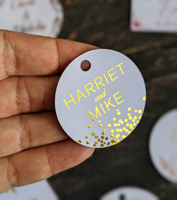 Confetti Tag Collection - Foil Gift Tags x10