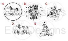 Load image into Gallery viewer, Round Christmas Tags Pack of 12