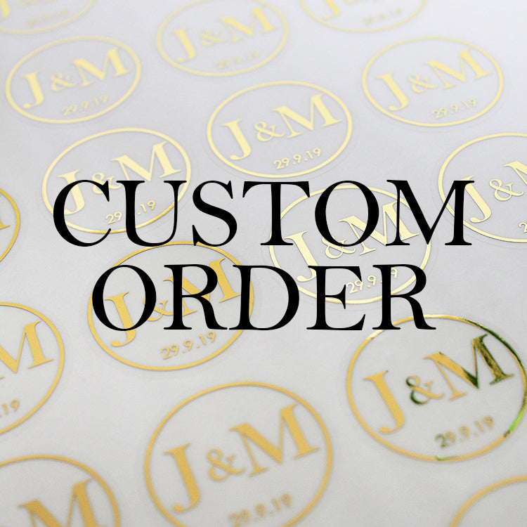 Custom Order for Wedding Candle Stickers
