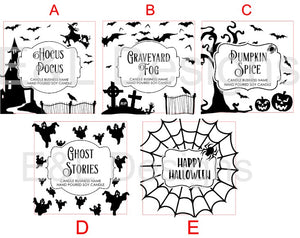 Halloween Candle Stickers