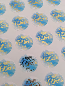 Happy Father's Day Foil Stickers