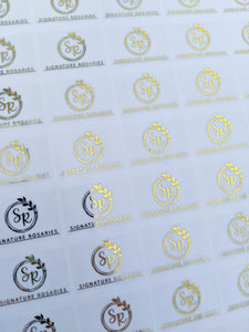 Clear Foil Logo Stickers