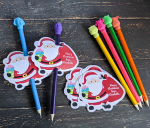 Personalised Santa Pencil Holder, Set of 12