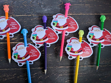 Load image into Gallery viewer, Personalised Santa Pencil Holder, Set of 12