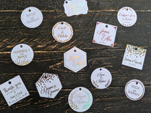 Load image into Gallery viewer, Confetti Tag Collection - Foil Gift Tags x10