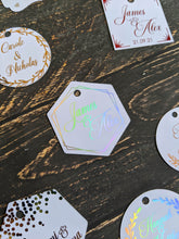 Load image into Gallery viewer, Wedding Tag Collection - Foil Gift Tags x10