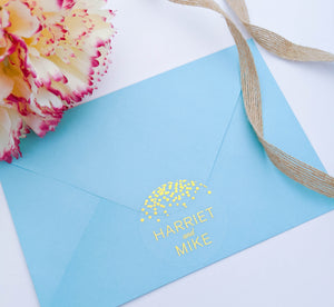 Clear Confetti Foil Envelope Seals