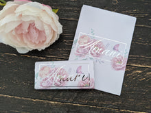 Load image into Gallery viewer, Pink Peonies & Butterfly Chocolate Wrappers