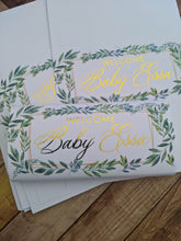 Load image into Gallery viewer, Greenery Baby Shower Chocolate Wrappers x 10