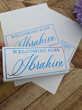 Load image into Gallery viewer, White Welcome Baby Chocolate Wrappers x 10