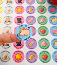 Load image into Gallery viewer, Pun Personalised Teacher Stickers - Set of 48 Stickers