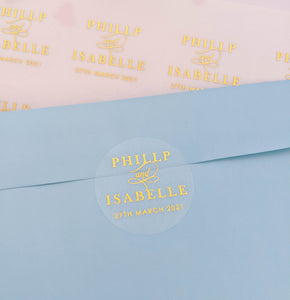 Couple Names Wedding Invitation Envelope Seals