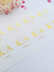 Initials Wedding Invitation Envelope Seals