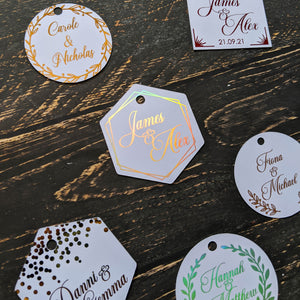 Wedding Tag Collection - Foil Gift Tags x10