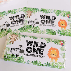 Wild One Jungle Chocolate Wrappers x 10