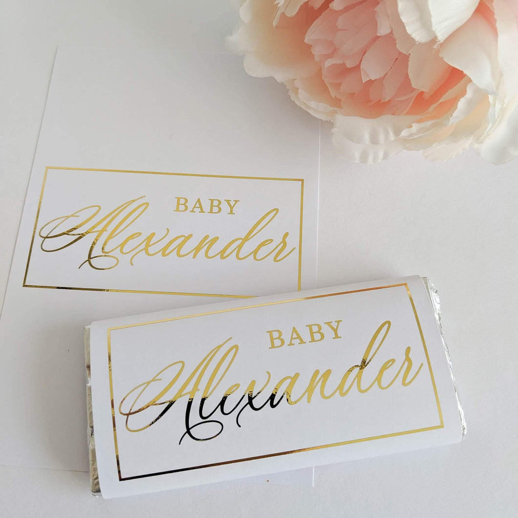 E&L Designs Baby Shower Chocolate Wrappers x 10