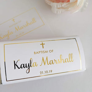E&L Designs Baptism Chocolate Wrappers x 10