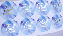 Load image into Gallery viewer, E&L Designs Blue Eid Mubarak Stickers Foiled Coloured Stickers