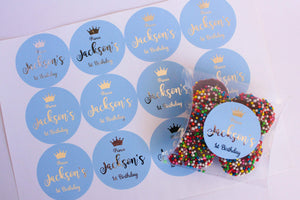E&L Designs Blue Prince Personalised Foil Stickers
