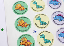 Load image into Gallery viewer, E&L Designs Cartoon Baby Dinosaur Stickers