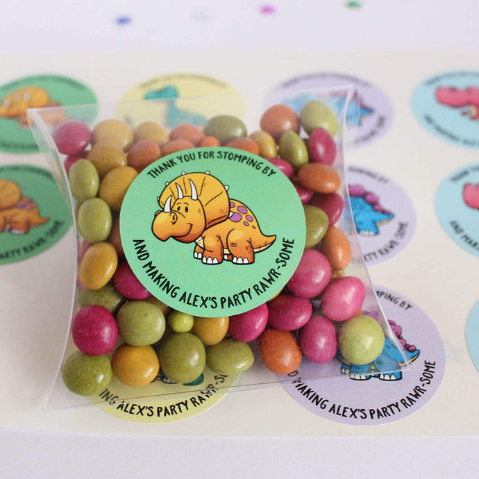 E&L Designs Cartoon Baby Dinosaur Stickers