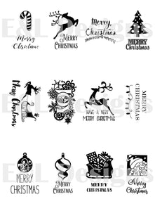 E&L Designs Christmas Gift Tags Pack of 12