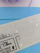 Load image into Gallery viewer, E&L Designs Christmas Return Address Labels - Clear with Foil