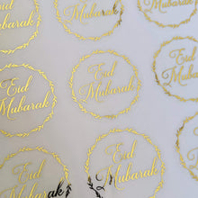 Load image into Gallery viewer, E&L Designs Clear Eid Mubarak Stickers with foil
