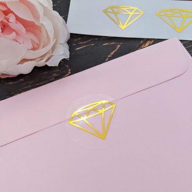 E&L Designs Clear Foil Diamond Stickers