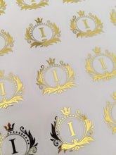 Load image into Gallery viewer, E&L Designs Clear Foil Monogram Flourish Stickers