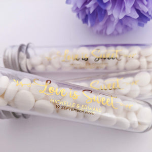 E&L Designs Clear Tube Stickers with Foil