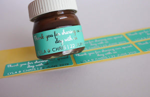 E&L Designs Coloured Foil Mini Nutella Jar Stickers x30