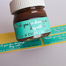 Load image into Gallery viewer, E&L Designs Coloured Foil Mini Nutella Jar Stickers x30
