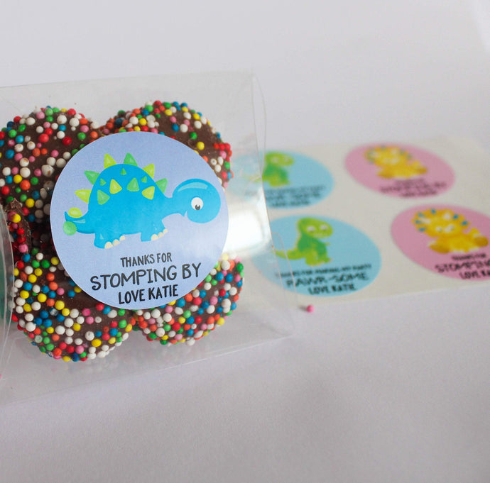 E&L Designs Colourful Dinosaur Birthday Theme Stickers