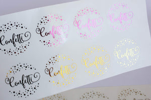 E&L Designs Confetti Clear Foil Stickers