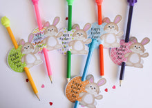 Load image into Gallery viewer, E&L Designs | Custom Foil Stickers Personalised Easter Bunny Pencil Holder, Set of 12