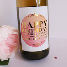 Load image into Gallery viewer, E&L Designs Custom Happy Birthday Wine Labels