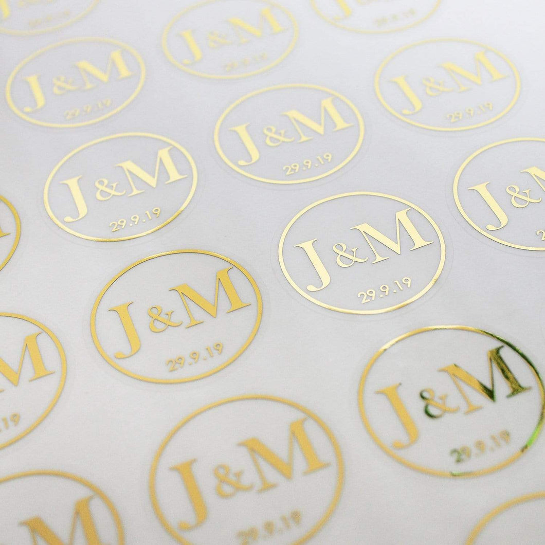 E&L Designs Custom Order for Karan - Wedding Stickers.