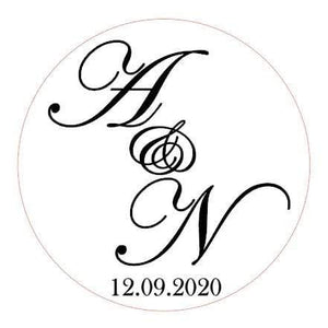E&L Designs Custom Order for Melissa, 35mm Clear Foil Stickers, 120 Stickers